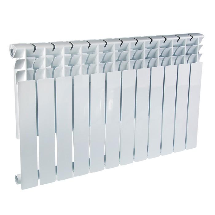 Радиатор алюминиевый Oasis, 500 х 80 мм, 12 секций