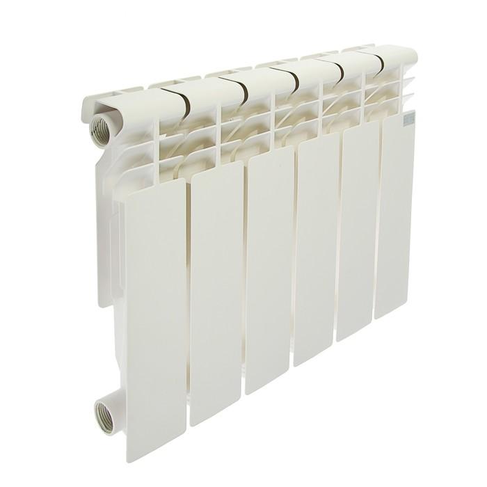 Радиатор алюминиевый STI, 350 х 80 мм, 6 секции