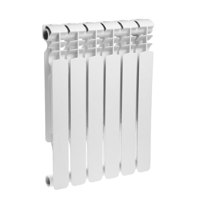 Радиатор биметаллический Oasis, 500 х 70 мм, 6 секций