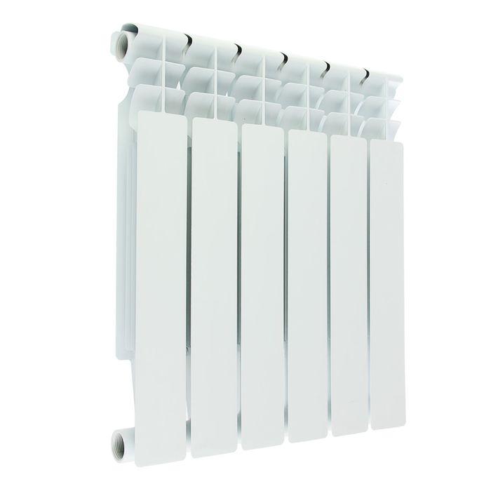 Радиатор биметаллический Oasis, 500 х 80 мм, 6 секций