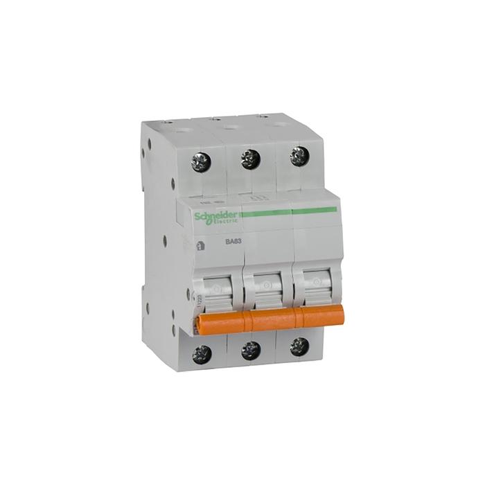 Выключатель автоматический Schneider Electric серия Домовой ВА63, 3п, 16 А, х-ка С, 4.5 кА