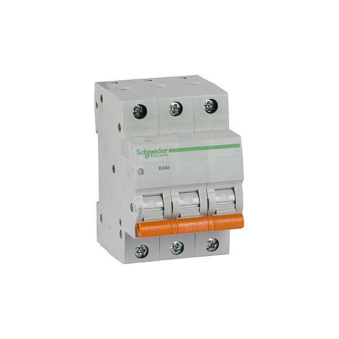 Выключатель автоматический Schneider Electric серия Домовой ВА63, 3п, 10 А, х-ка С, 4.5 кА