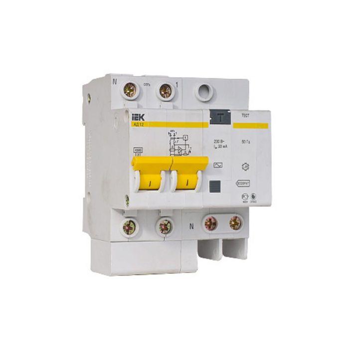 Дифф. автомат IEK, двухполюсный, 3.5 мод., C 32 А, 30 мА, тип A, 4.5 кА, АД-12М, MAD12-2-032-C-030