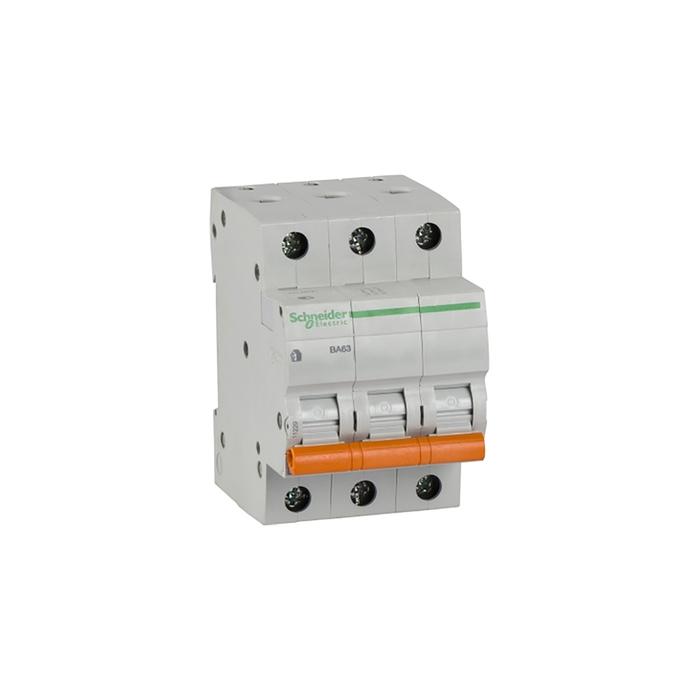Выключатель автоматический Schneider Electric серия Домовой ВА63, 3п, 63 А, х-ка С, 4.5 кА