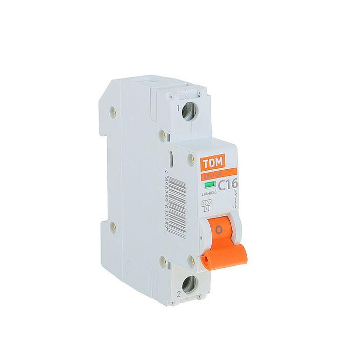 Выключатель автоматический TDM ВА47-29, 1п, 16 А, 4.5 кА