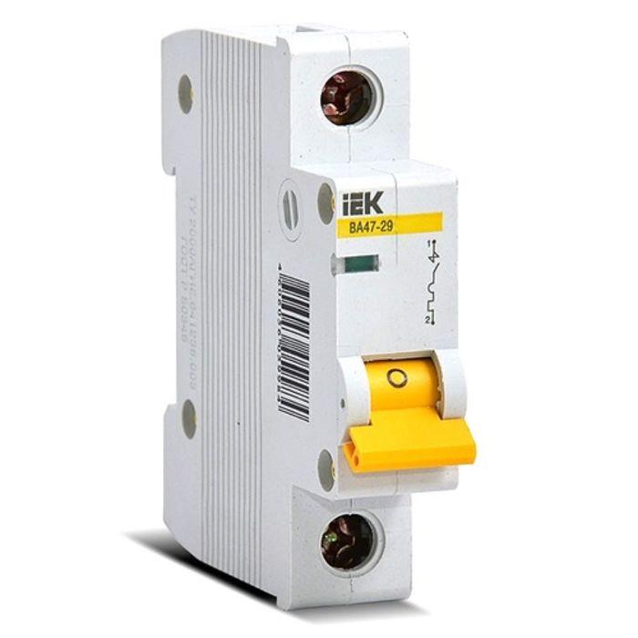 Выключатель автоматический IEK MVA20-1-016-C, 1п, С 16 А, ВА 47-29, 4.5кА
