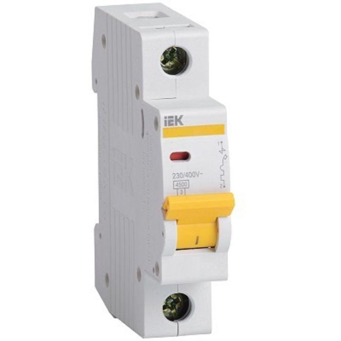 Выключатель автоматический IEK, однополюсный, C 1 А, ВА 47-29, 4.5 кА, MVA20-1-001-C