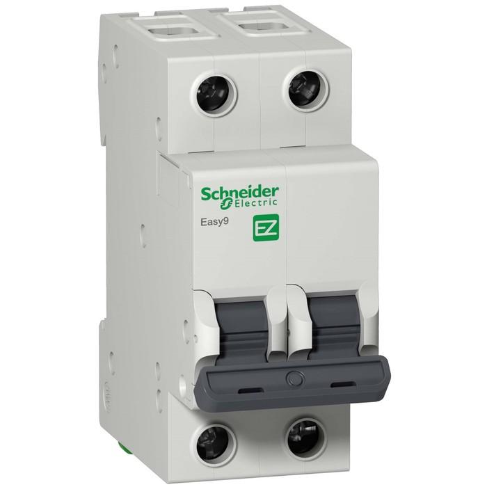 Выключатель автоматический Schneider Electric серии Easy 9, 2п, 40 А, х-ка С, 4.5 кА