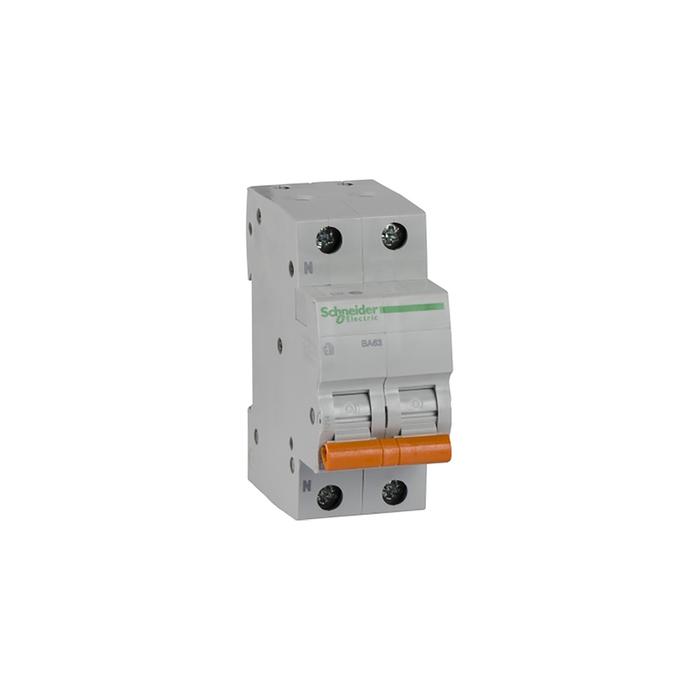 Выключатель автоматический Schneider Electric серия Домовой ВА63, 2п, 20 А, х-ка С, 4.5 кА