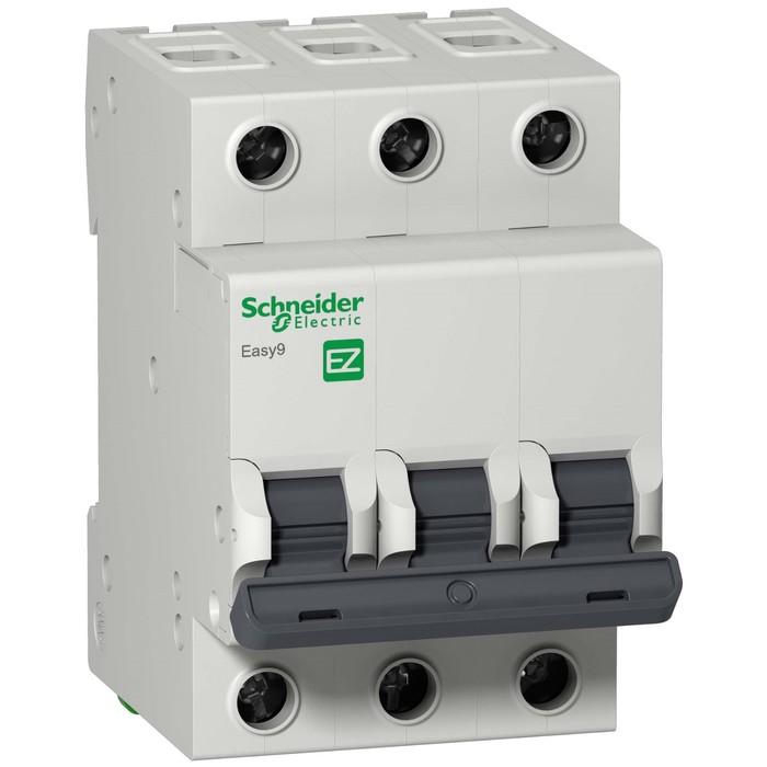 Выключатель автоматический Schneider Electric серии Easy 9, 3п, 10 А, х-ка С, 4.5 кА