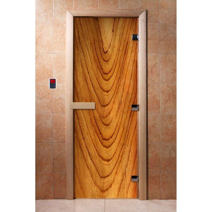 Дверь с фотопечатью, стекло 8 мм, размер коробки 190 × 70 см, правая, цвет А050