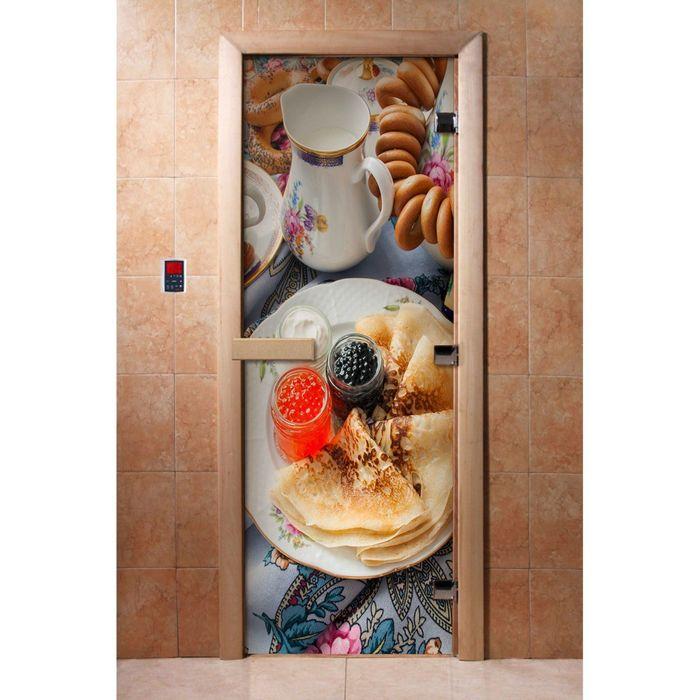 Дверь с фотопечатью, стекло 8 мм, размер коробки 190 × 70 см, правая, цвет А059
