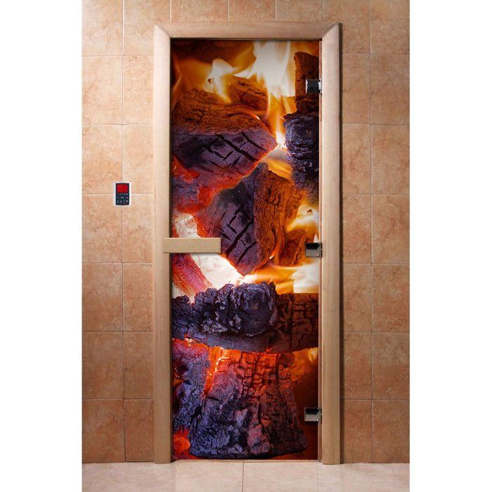 Дверь с фотопечатью, стекло 8 мм, размер коробки 190 × 70 см, правая, цвет А060