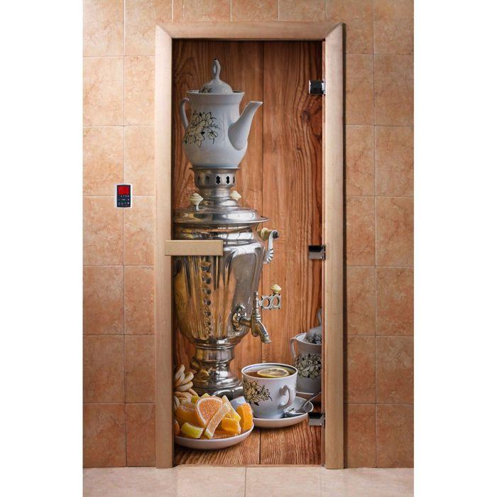 Дверь с фотопечатью, стекло 8 мм, размер коробки 190 × 70 см, правая, цвет А074