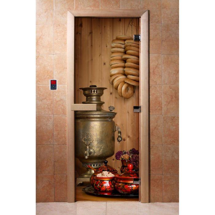 Дверь с фотопечатью, стекло 8 мм, размер коробки 190 × 70 см, правая, цвет А076