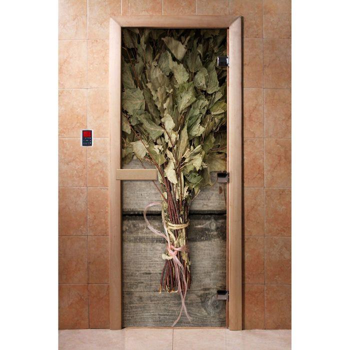Дверь с фотопечатью, стекло 8 мм, размер коробки 190 × 70 см, левая, цвет А011