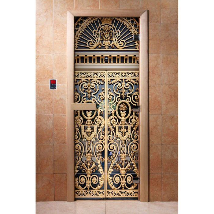 Дверь с фотопечатью, стекло 8 мм, размер коробки 190 × 70 см, левая, цвет А029