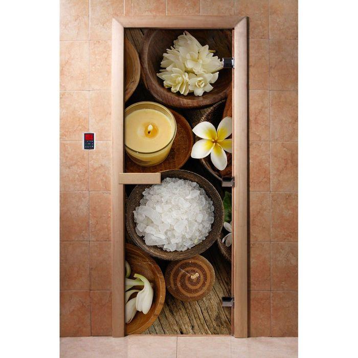 Дверь с фотопечатью, стекло 8 мм, размер коробки 190 × 70 см, левая, цвет А058
