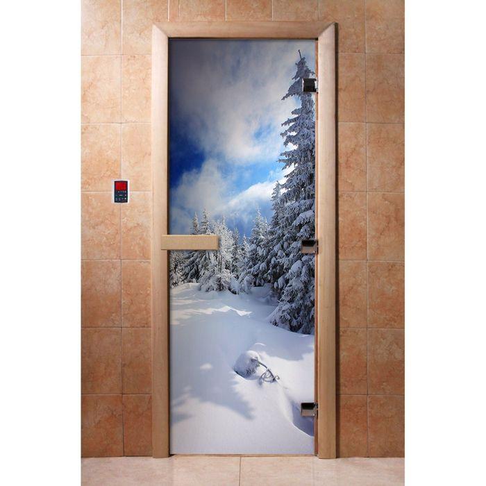 Дверь с фотопечатью, стекло 8 мм, размер коробки 190 × 70 см, левая, цвет А081
