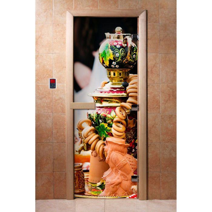 Дверь с фотопечатью, стекло 8 мм, размер коробки 190 × 70 см, левая, цвет А075