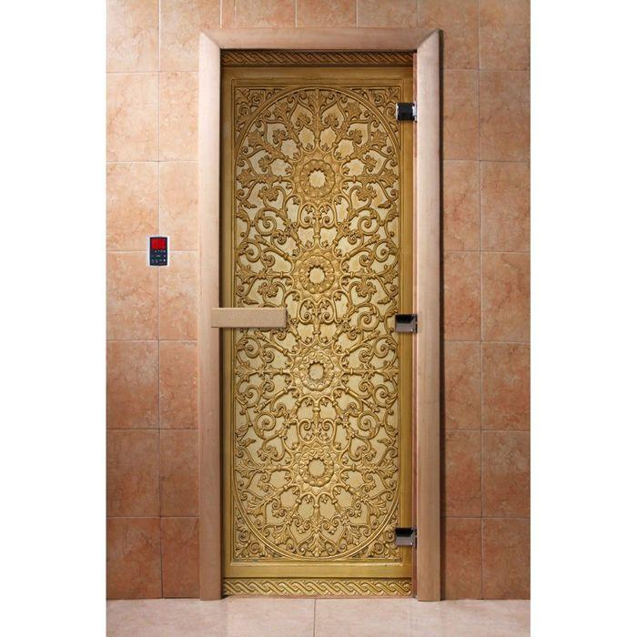Дверь с фотопечатью, стекло 8 мм, размер коробки 190 × 70 см, правая, цвет А021