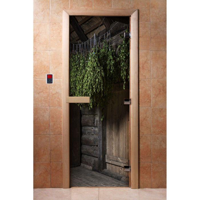 Дверь с фотопечатью, стекло 8 мм, размер коробки 190 × 70 см, правая, цвет А002