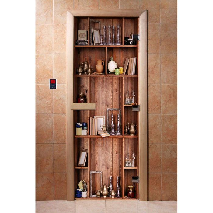 Дверь с фотопечатью, стекло 8 мм, размер коробки 190 × 70 см, правая, цвет А006