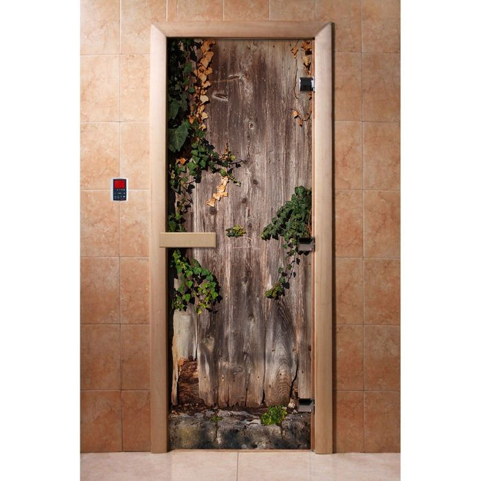 Дверь с фотопечатью, стекло 8 мм, размер коробки 190 × 70 см, правая, цвет А030