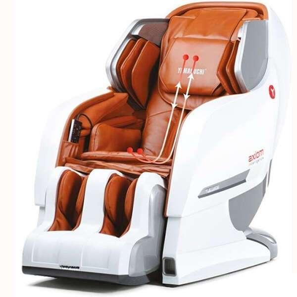 Массажное кресло Yamaguchi YA-6000 Axiom (бело-рыжее- бежевое-черное)