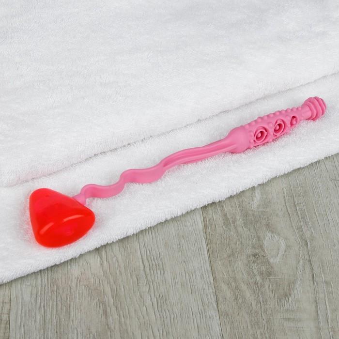 Массажёр-колотушка, гнущийся, цвет розовый
