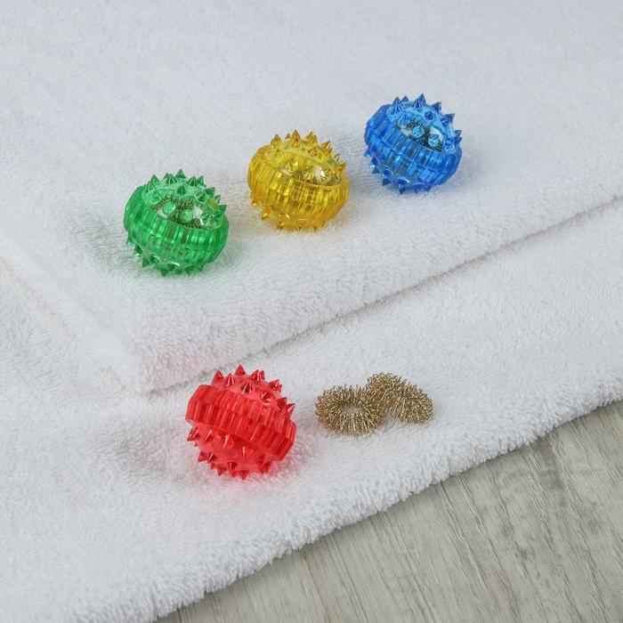 Массажёр «Шарик» с 2 кольцами, цвет МИКС