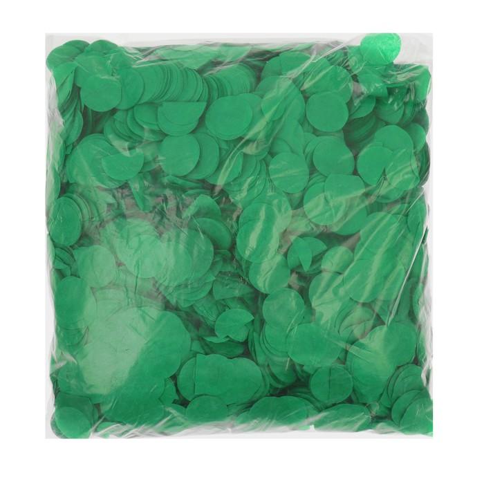 """Наполнитель для шара """"Конфетти круг"""" 2,5 см, бумага, цвет темно-зеленый, 500г"""