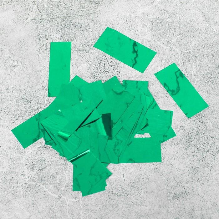 """Наполнитель для шара """"Конфетти прямоугольник"""" 5 см, фольга, цвет зеленый 500г"""