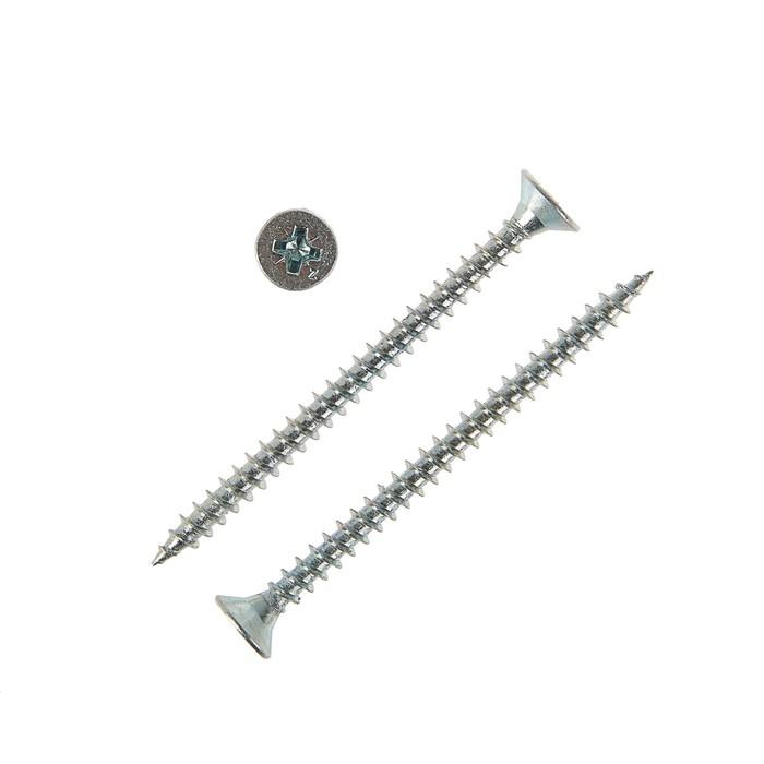 Саморезы универсальные TECH-KREP, ШУц, 6х80 мм, цинк, потай, 1300 шт.