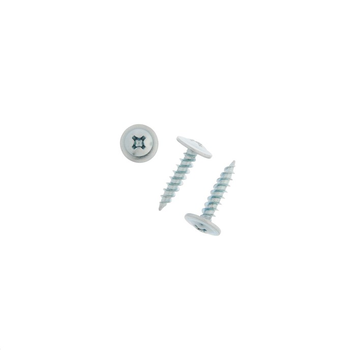 Саморез с прессшайбой TUNDRA krep, 4.2х19мм, острый, белый цинк, 10000 шт.