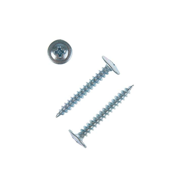Саморез с прессшайбой, 4.2х32 мм, острый, цинк, 7500 шт.