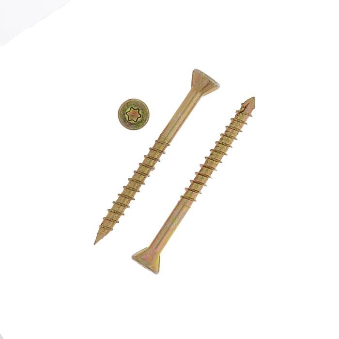 Саморез отделочный INFIX, 3.5х40 мм, потайной, Torx10, жёлтый цинк