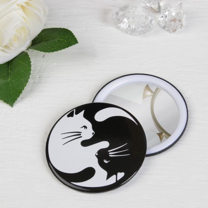 Зеркало «Кошки», цвет чёрный/белый