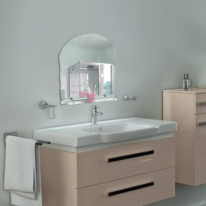"""Зеркало в ванную комнату 60×45 см """"Ассоona А614"""", 1 полка"""