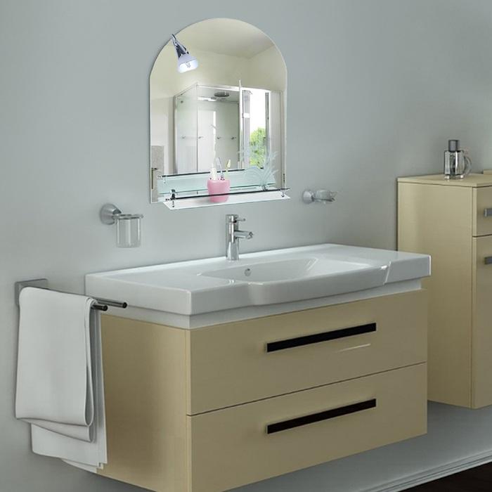 """Зеркало в ванную комнату 70×50 см """"Ассоona A611"""", 1 полка"""