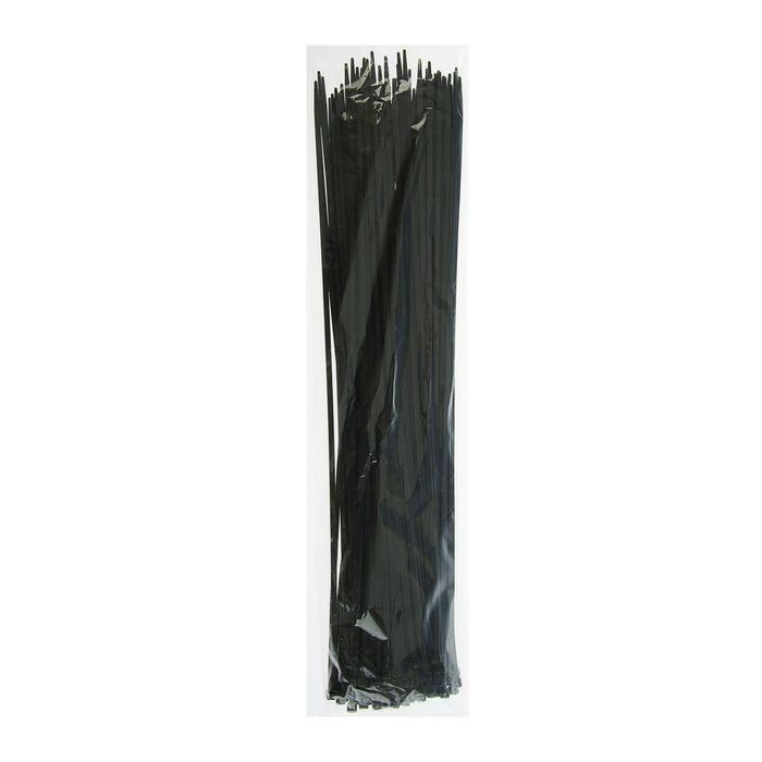 Хомут-стяжки пластиковые, 4.8х500 мм, чёрные, упаковка 100 шт.