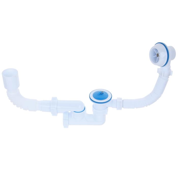 """Комплект для ванны """"АНИ"""" C6255: сифон регулируемый, гибкая труба 40 x 50 мм"""