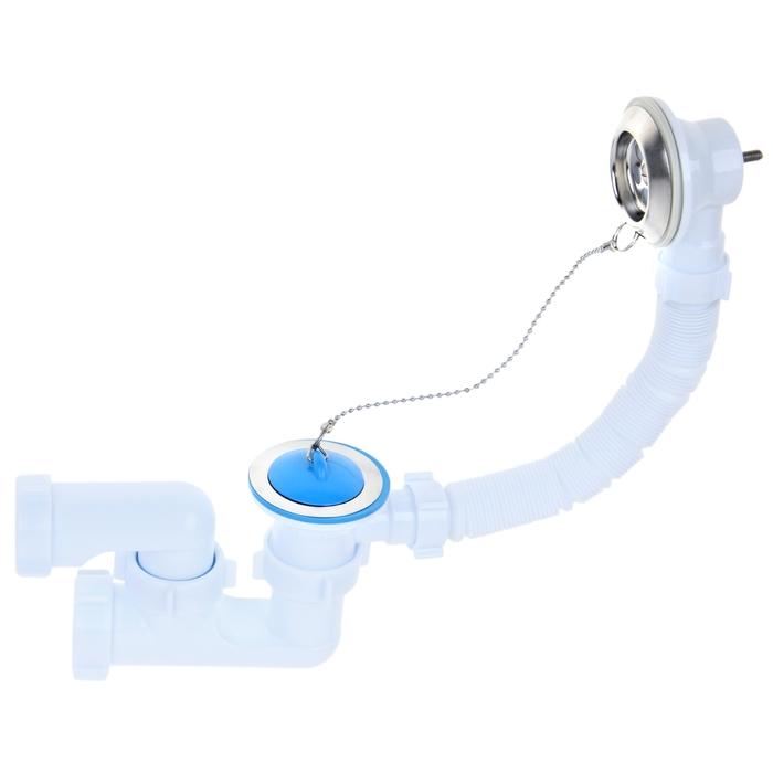"""Комплект для ванны """"АНИ пласт"""" E250: сифон с поворотным коленом"""