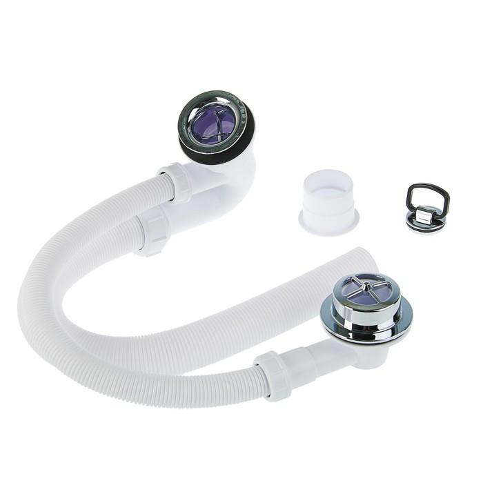 """Сифон (трап) для ванны McAlpine MRB4С, 1 1/4""""х40 мм,  с переливом и гофрой"""