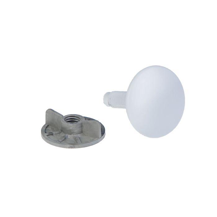 Заглушка отверстия умывальника под смеситель MasterProf, 50 мм, белая
