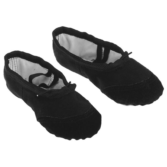 Балетки гимнастические, размер 35, цвет чёрный