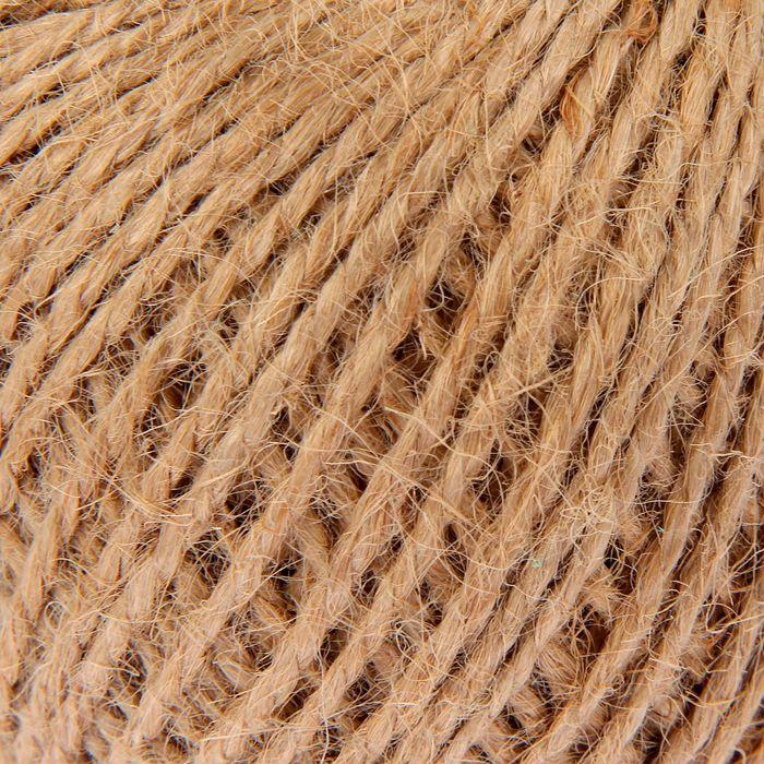 Шпагат джутовый, скрученный d=1,5 мм, 60 м, цвет натуральный
