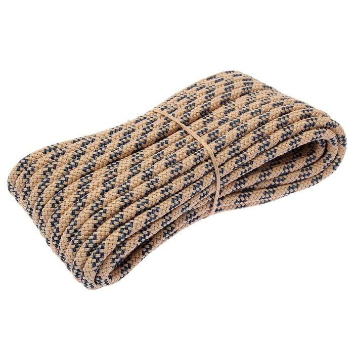 Шнур плетёный 24-х прядный ПП, d=10 мм, 20 м, цвет МИКС
