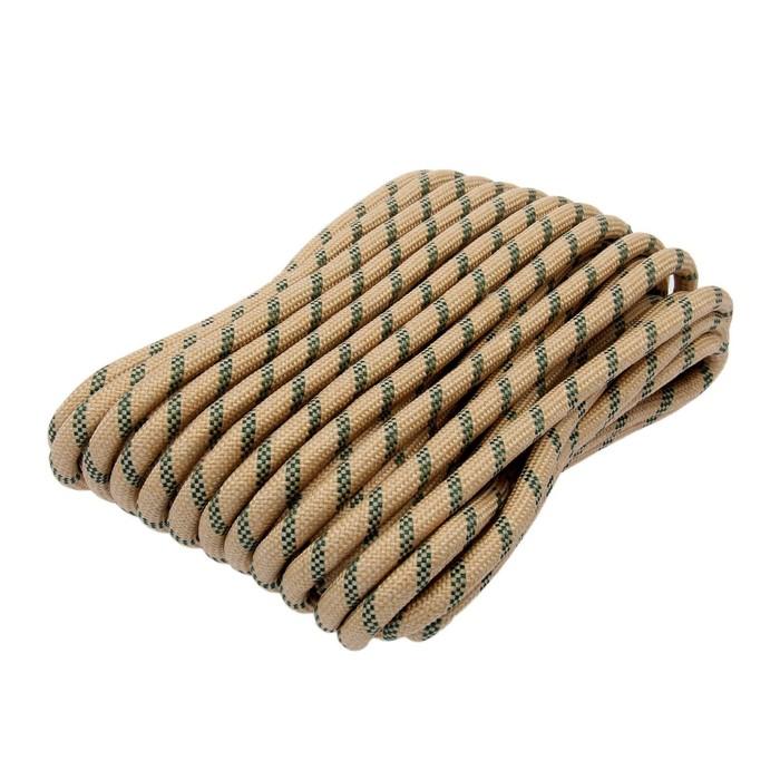 Шнур плетёный 24-х прядный ПП, d=12 мм, 20 м, цвет МИКС