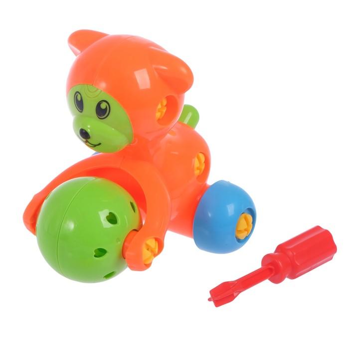 Конструктор отвёрточный «Медвежонок», цвета МИКС